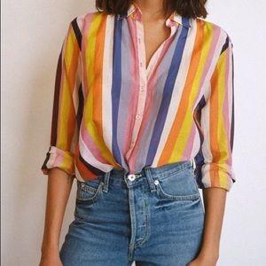 Xirena   Beau Shirt Anventine Striped Small New